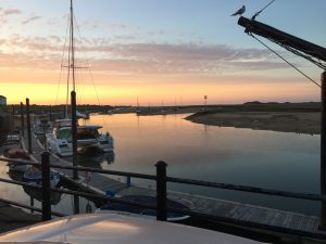 Sunset over Wells Harbour