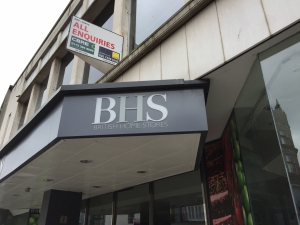 The old, close, British Home Stores (BHS) store.